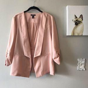 Torrid Pink Open Front Blazer